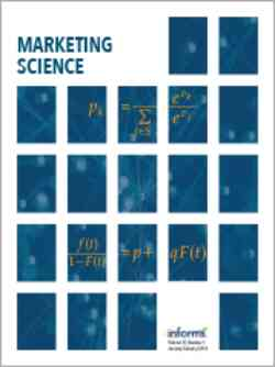 Marketing Science Vol 30 Cover