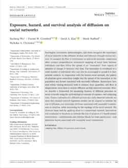 Exposure Hazard And Survival Analysis Of Diffusion On Social Networks