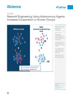 Network Engineering Using Autonomous Agents Increases Cooperation In Human Groups