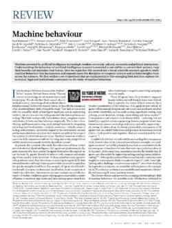 Machine Behaviour